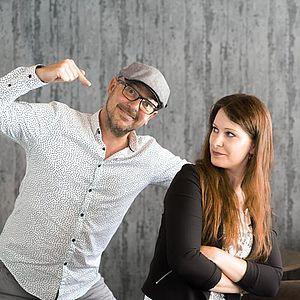 MAD OWL Geschäftsführer Carsten und Designerin Anja