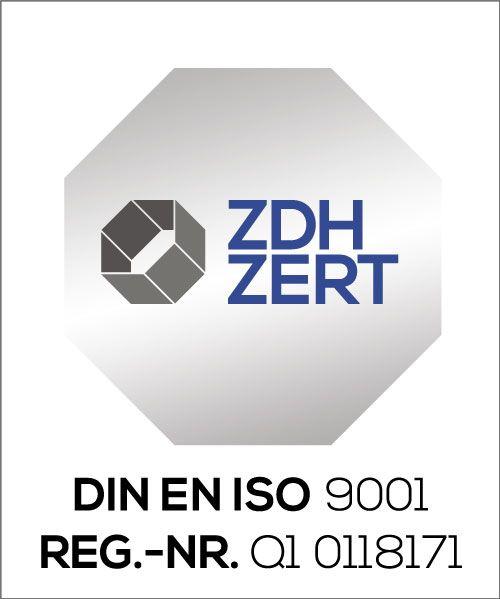 Zertifikat DIN ISO 9001:15