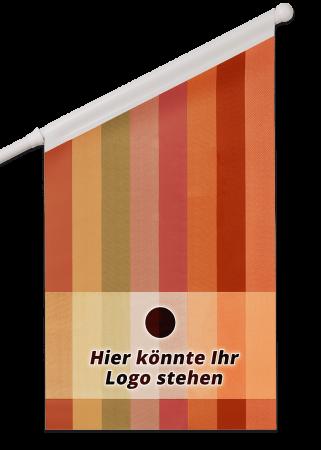 Fahne schmal Vinyl 60 Grad mit Digitaldruck
