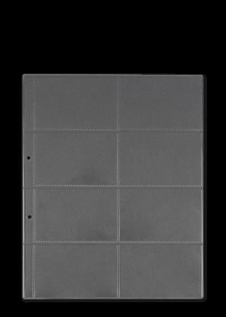 Konfektionierung LHM Hüllen für Visitenkarten A4 Vinyl transparent mit Abheftstreifen