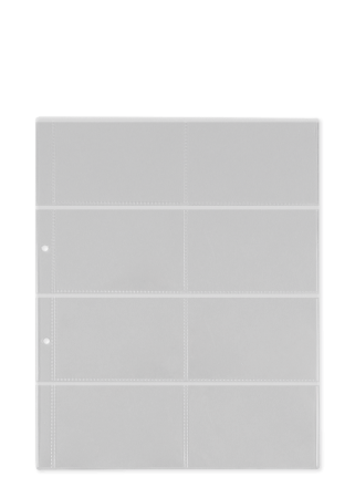 Prospekthülle A4, Vinyl transparent für Visitenkarten