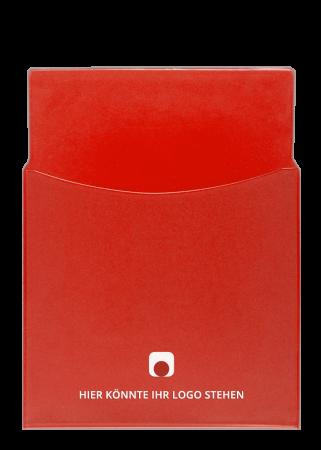 Spezialhülle A4 Vinyl rot-transparent mit halbhoher Tasche